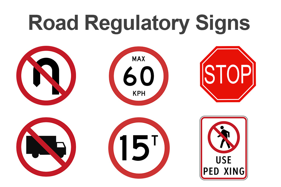 regulatory road sign