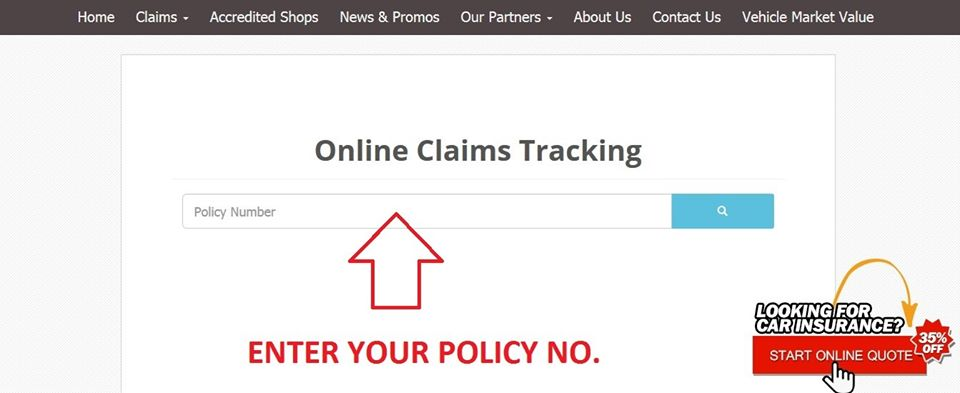 Online Claims Tracking